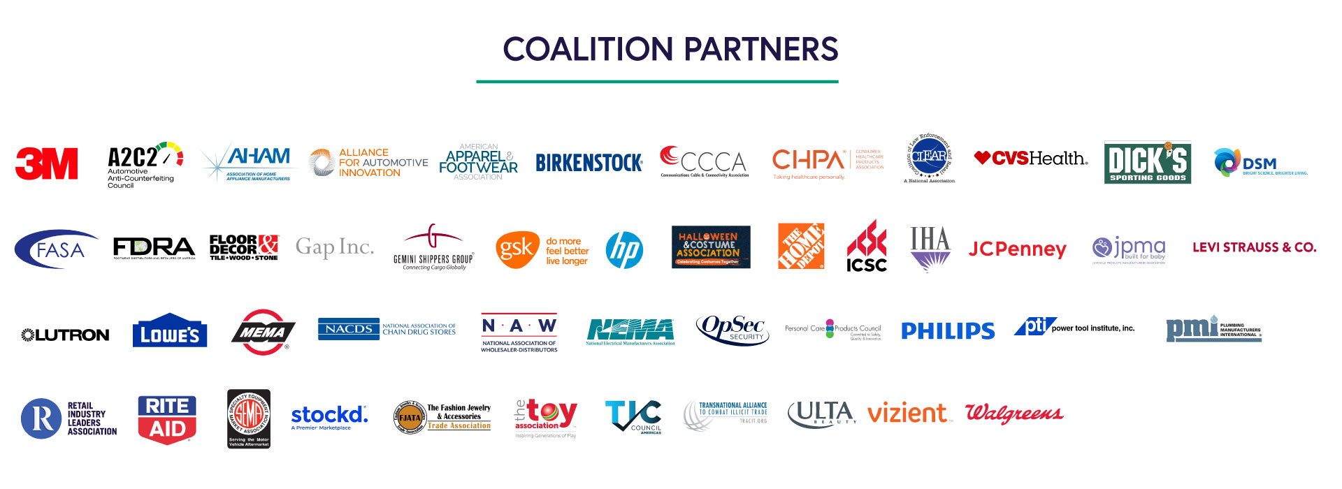 Buy Safe America Coalition Partners