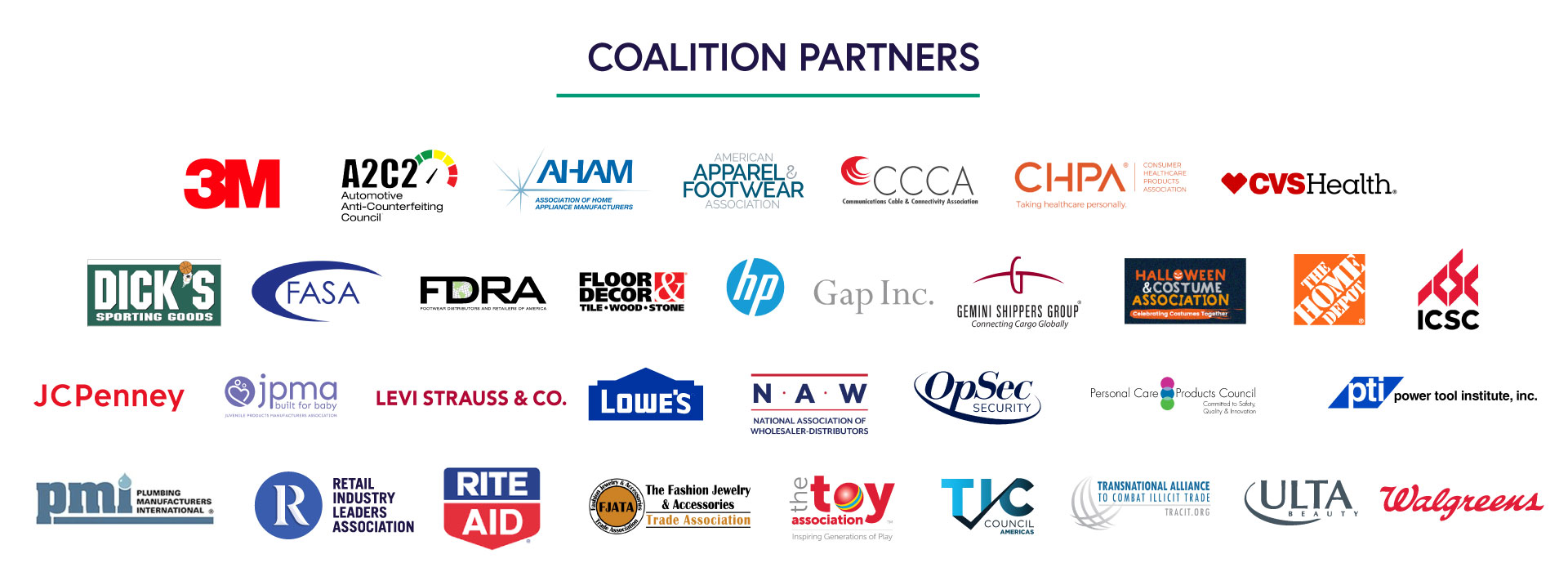 Buy Safe America Coalition Partners